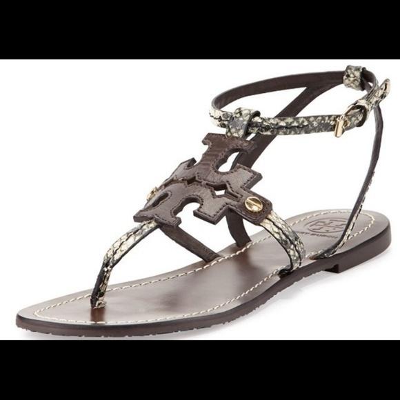 54ec10d64 Tory Burch Phoebe Snake Embossed Sandal 8 Buckle. M 5b3684c66a0bb7444580769f